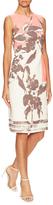 Carolina Herrera Cotton V-Neck Printed Sheath Dress