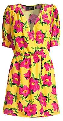 The Kooples Women's Floral Silk A-Line Wrap Dress
