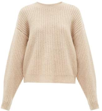 Roche Ryan Dropped Shoulder Cashmere Blend Sweater - Womens - Beige