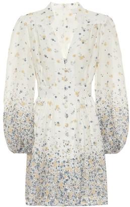 Zimmermann Carnaby floral linen minidress