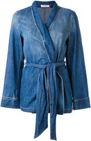 Equipment denim trouser suit