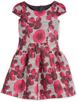 Bonnie Jean Little Girls' Printed Cap-Sleeve Dress