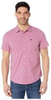 Dockers Supreme Flex Short Sleeve Button-Down Shirt (Valerian Plum/Gingham Plaid) Men's Clothing