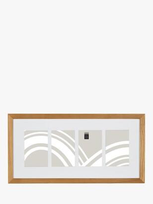 House by John Lewis Photo Frame & Mount, 4 Photo, 4 x 6 (10 x 15cm), FSC-Certified (Oak)