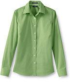 Classic Women's Petite Long Sleeve No Iron Pinpoint Shirt-Pale Emerald