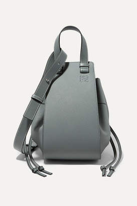 Loewe Hammock Dw Medium Textured-leather Shoulder Bag - Mid denim