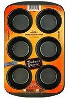 Baker's Secret 1075053 Basics Nonstick 6-Cup Muffin Pan - World Kitchen/Ekco Pack by BAKER'S SECRET