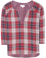 Velvet Plaid cotton blouse