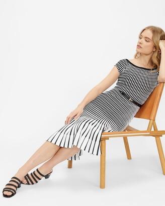 Ted Baker Bardot Stripe Knitted Midi Dress