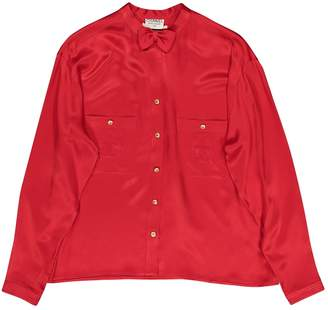 Chanel \N Red Silk Tops