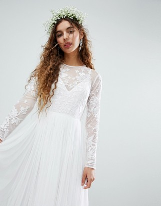 Asos EDITION Embroidered Bodice Wedding Maxi Dress