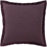 Veratex Aubergne Velvet-Flanged Textured Euro Sham