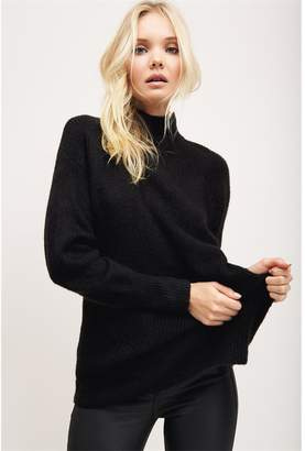 Dynamite Jaden Open Back Sweater - Final Sale Jet Black