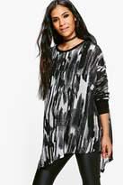 boohoo Maternity Macie Mono Knitted Longline Top multi