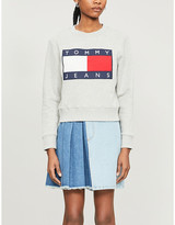 Tommy Jeans Logo-print cotton-jersey sweatshirt