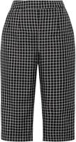 Isa Arfen Checked Silk Capri Pants