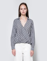 Striped Crossover Top