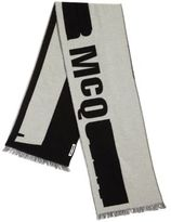 McQ by Alexander McQueen Logo Printed Wool-Blend Scarf