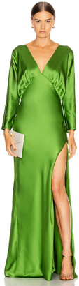 Mason by Michelle Mason Dolman Sleeve Gown in Clover | FWRD