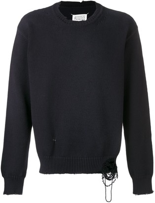 Maison Margiela Distressed Crew Neck Jumper