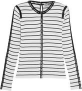 Emilio Pucci Cutout striped stretch-knit top
