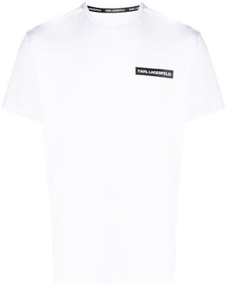 Karl Lagerfeld Paris logo-print short sleeved T-shirt