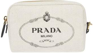 Prada Logo Zip-around Shoulder Bag