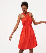 LOFT Lace Neck Dress