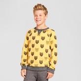 Cat & Jack Boys' Lion Pullover Sweatshirt Gold - Cat & Jack Gold