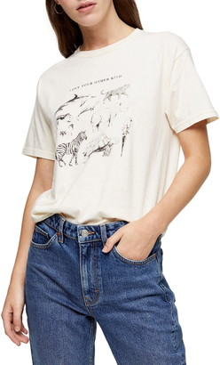 Topshop Love Your Other Kind Organic Cotton Tee