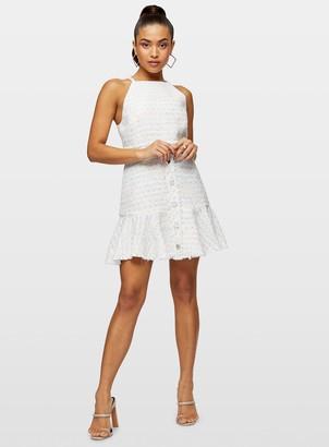 Miss Selfridge PETITE Ivory Boucle Pinafore Dress