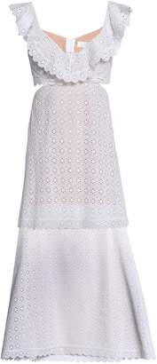 Zimmermann Layered Cutout Broderie Anglaise Cotton Midi Dress