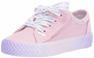 Keds Girls' Kickstart Herringbone Messaging Jr. Sneaker