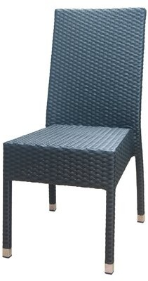 DHC Outdoor Rattan Side Patio Dining Chair Furniture