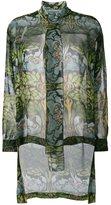 Alberta Ferretti sheer pussy bow blouse - women - Silk - 46