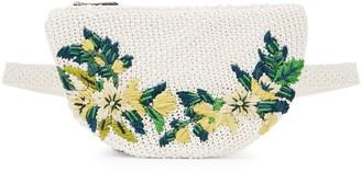 Sam Edelman Floral Raffia Belt Bag