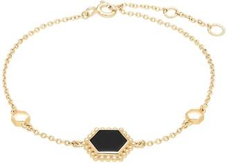 Gemondo Black Onyx Flat Slice Bracelet In Gold Sterling Silver