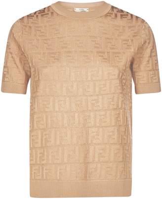 Fendi Jacquard FF Knitted Top
