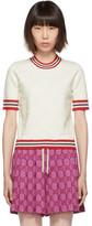 Gucci Off-White Knit GG Logo T-Shirt