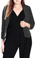 City Chic Seeing Spots Jacket