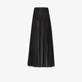 Alexandre Vauthier Metallic pleated maxi skirt