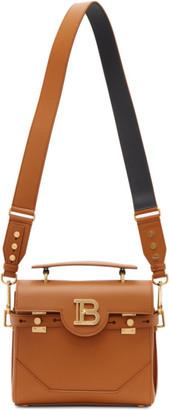 Balmain Brown Leather B-Buzz 23 Bag