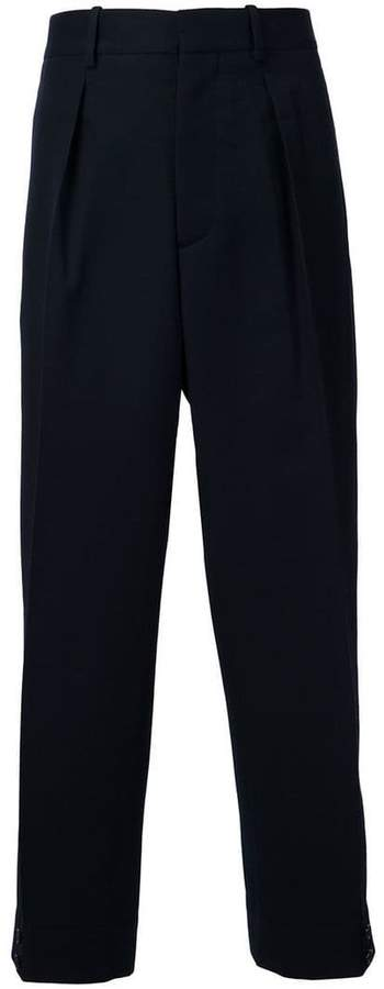 Marni front pleat trousers