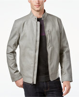 Alfani Men's Faux-Leather Slim Fit Jacket, Only at Macy's