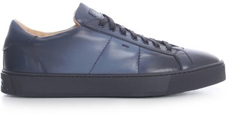 Santoni Leather Sneakers W/rubber Sole