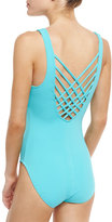 Letarte Lattice-Back One-Piece Swimsuit