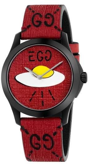 Gucci UFO Rubber Strap Watch, 38mm