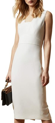 Ted Baker Astriid Seam Detail Pencil Dress (Ivory) Women's Dress