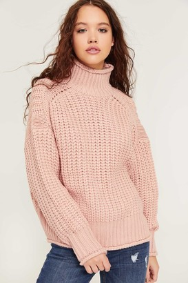 Ardene Chunky Knit Mock Neck Sweater - Clothing |