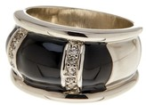 Ariella Collection Crystal and Enamel Band Ring